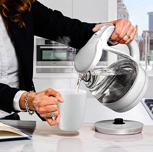 Best glass electric kettle no plastic