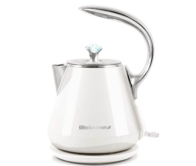 Elite Gourmet Double Wall Insulated Cool Touch Electric Water Tea Kettle