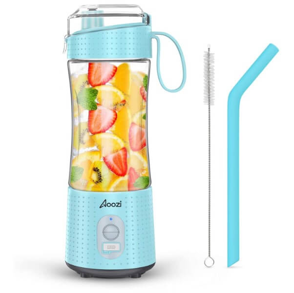 Aoozi Portable Blender, Personal Size Blender Smoothies and Shakes, Mini Blender 4000mAh USB Rechargeable