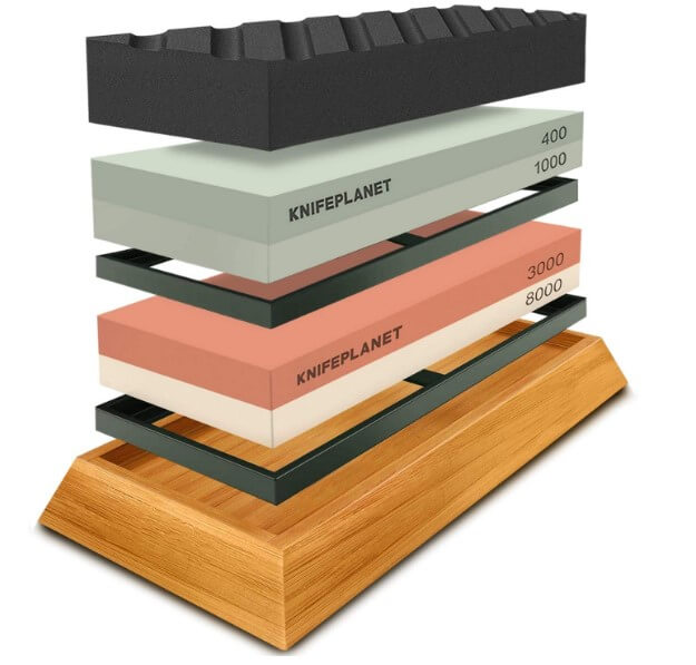 Coolwin complete knife sharpening with a flatting stone