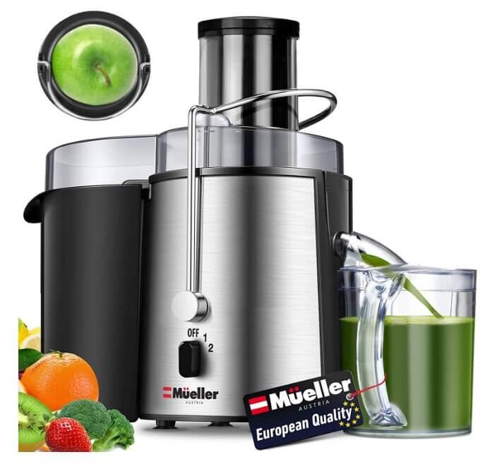 Mueller Austria Juicer Ultra Power, Easy Clean Extractor Press Centrifugal Juicing Machine
