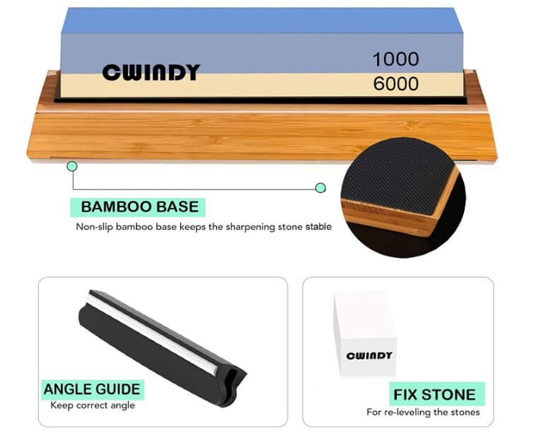 Cwindy Premium white corundum wet stones knife sharpener