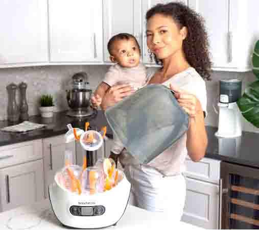 Baby Brezza Baby Bottle Sterilizer and Dryer Machine.