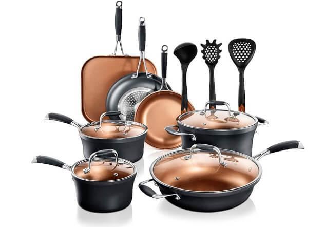 NutriChef Stackable Pots and Pans Set