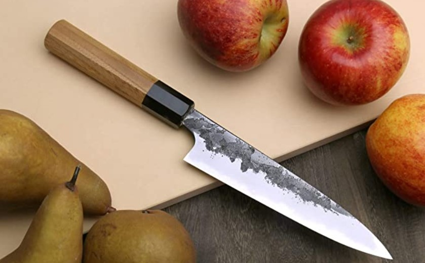 Petty knife wooden handle
