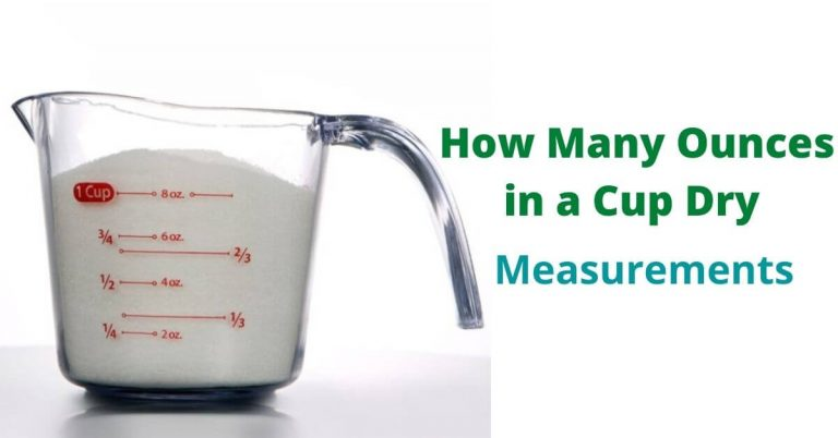 How many ounces in a cup dry