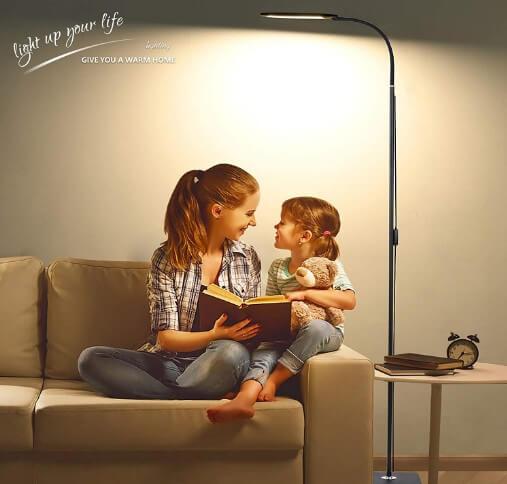 ALongDeng LED Floor Lamp - the best reading table lamp