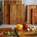 Large wooden serving platters