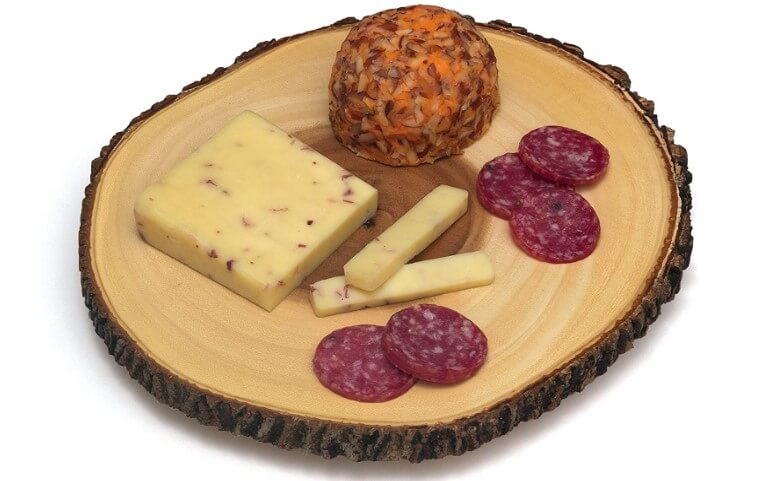 Lipper Acacia Tree Bark Footed Server for Cheese
