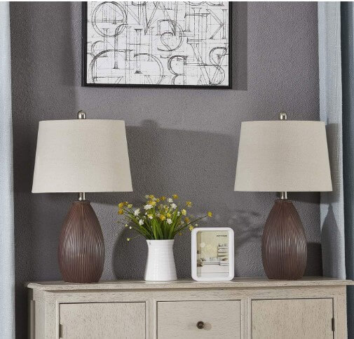 Maxax Ceramic Table Lamps   best reading lamp for eyes