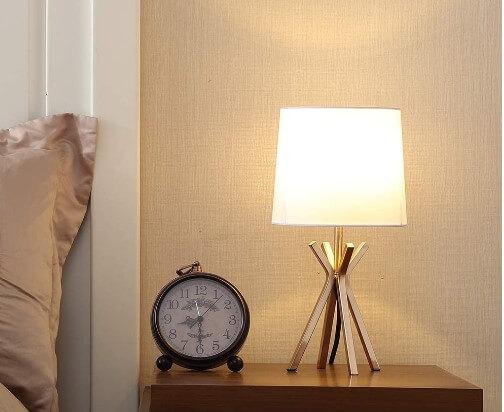 Popilion Modern Brass Gold Metal Table Lamp- Popity Home