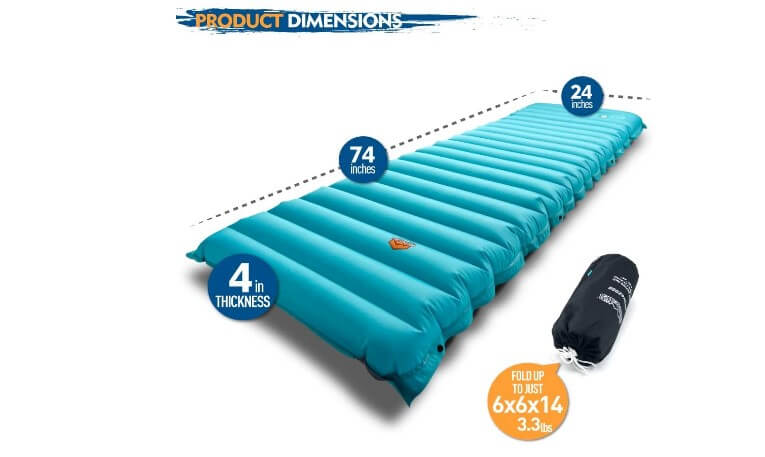 ZOOOBELIVES extra thickness inflatable sleeping pad