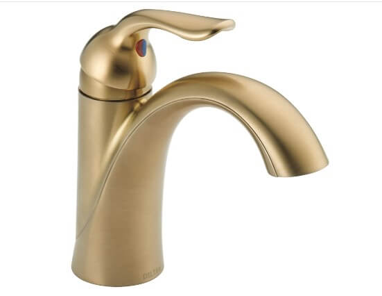 DELTA Lahara Single Hole Bathroom Faucet