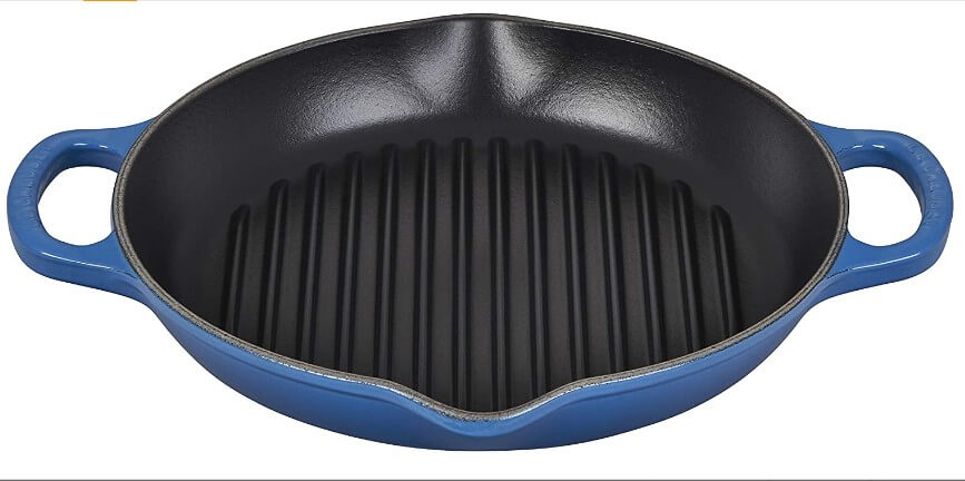 Le Creuset Enameled Cast Iron Grill Pan.