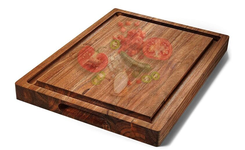 FANICHI Extra Large & Thick Acacia Wood Cutting Board