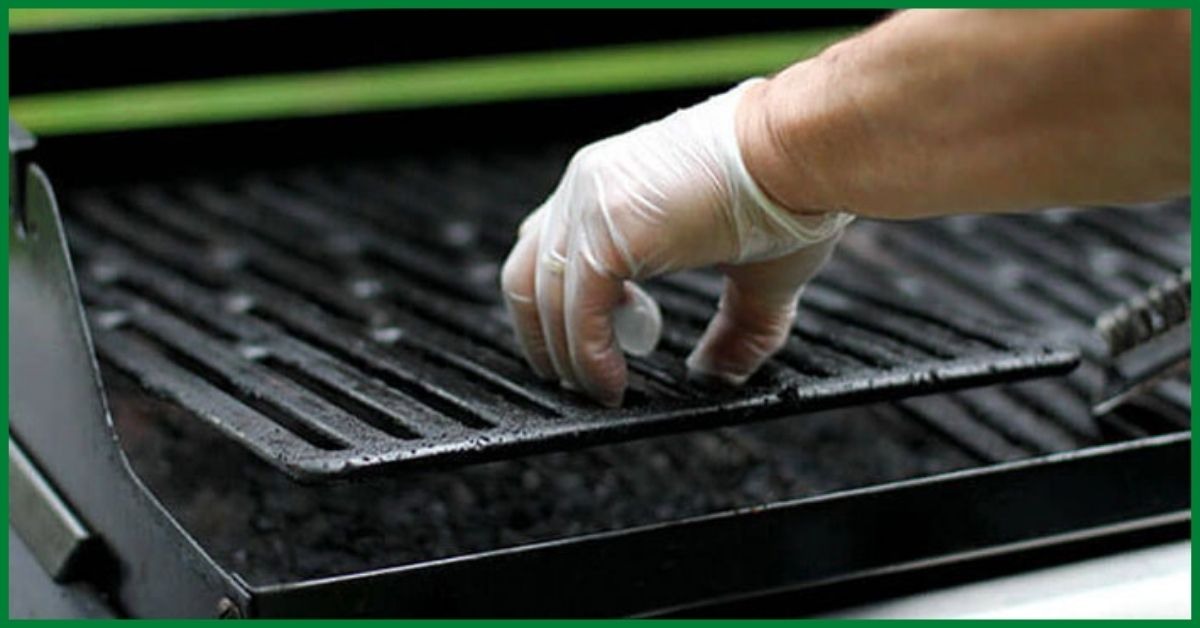 how to clean grill without brush