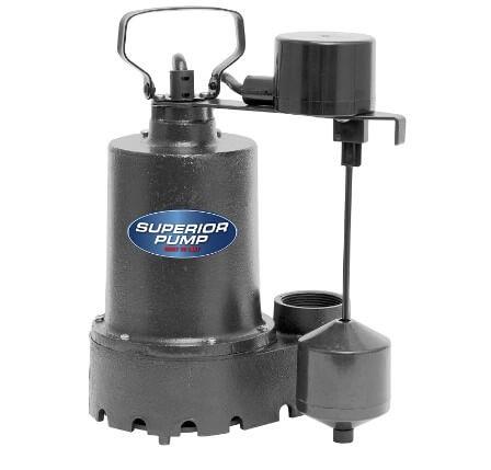 Superior pump 1-3 HP 92341- Cast Iron Submersible Sump Pump